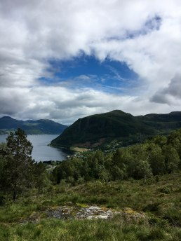 blick von mosehaugane zum fjord